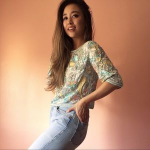 River Island Pastel Sequin Blouse